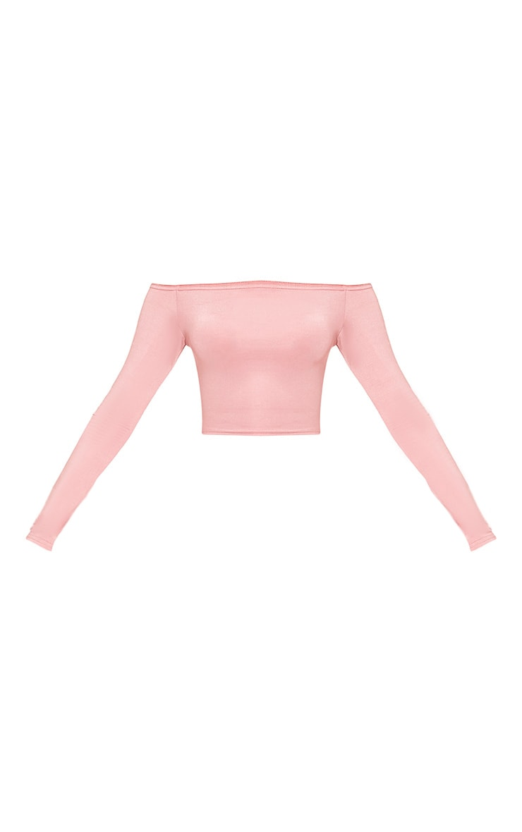 Alivia Rose Disco Slinky Bardot Longsleeve Crop Top 3
