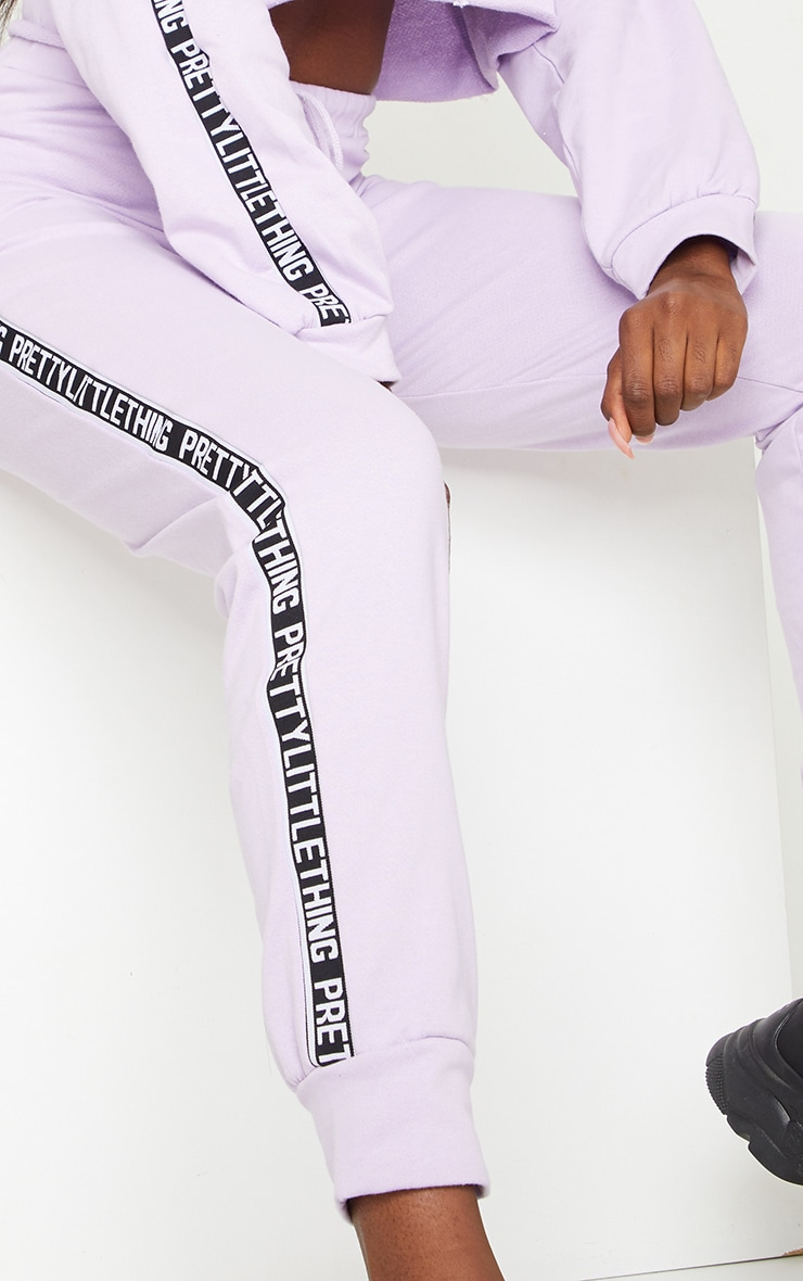 PRETTYLITTLETHING Tall Lilac Joggers 4