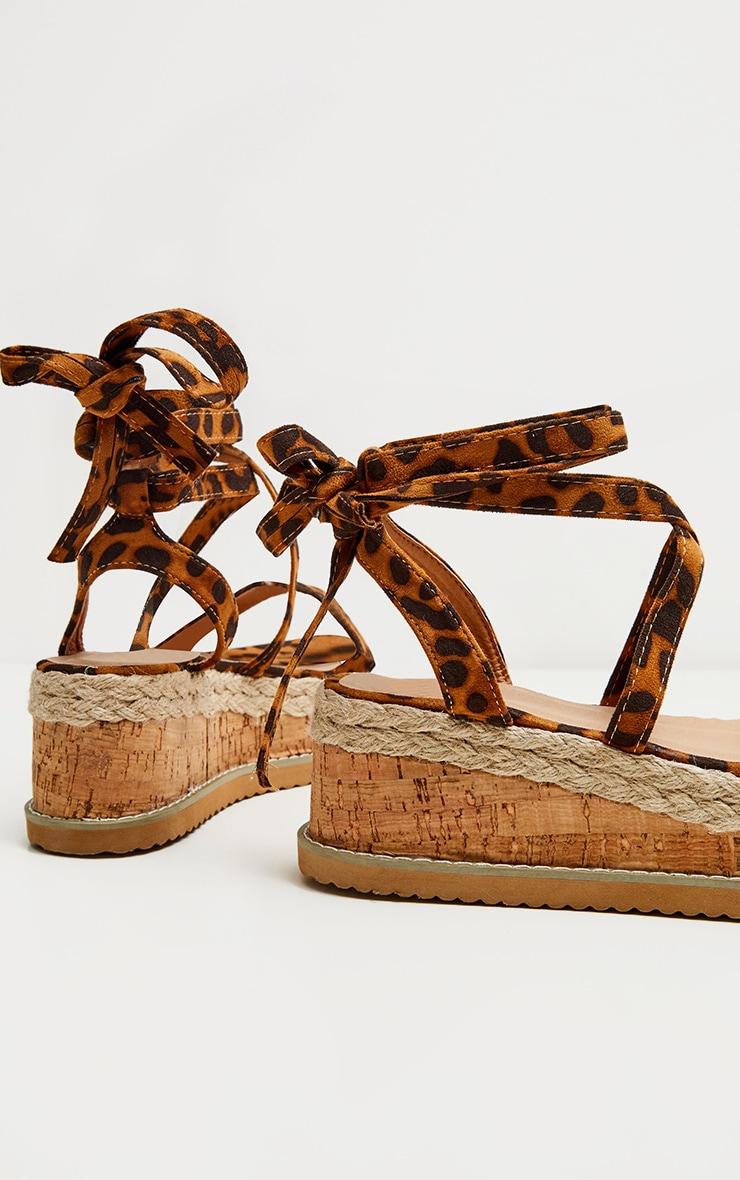 Leopard Niella Espadrille Flatform Sandals 3