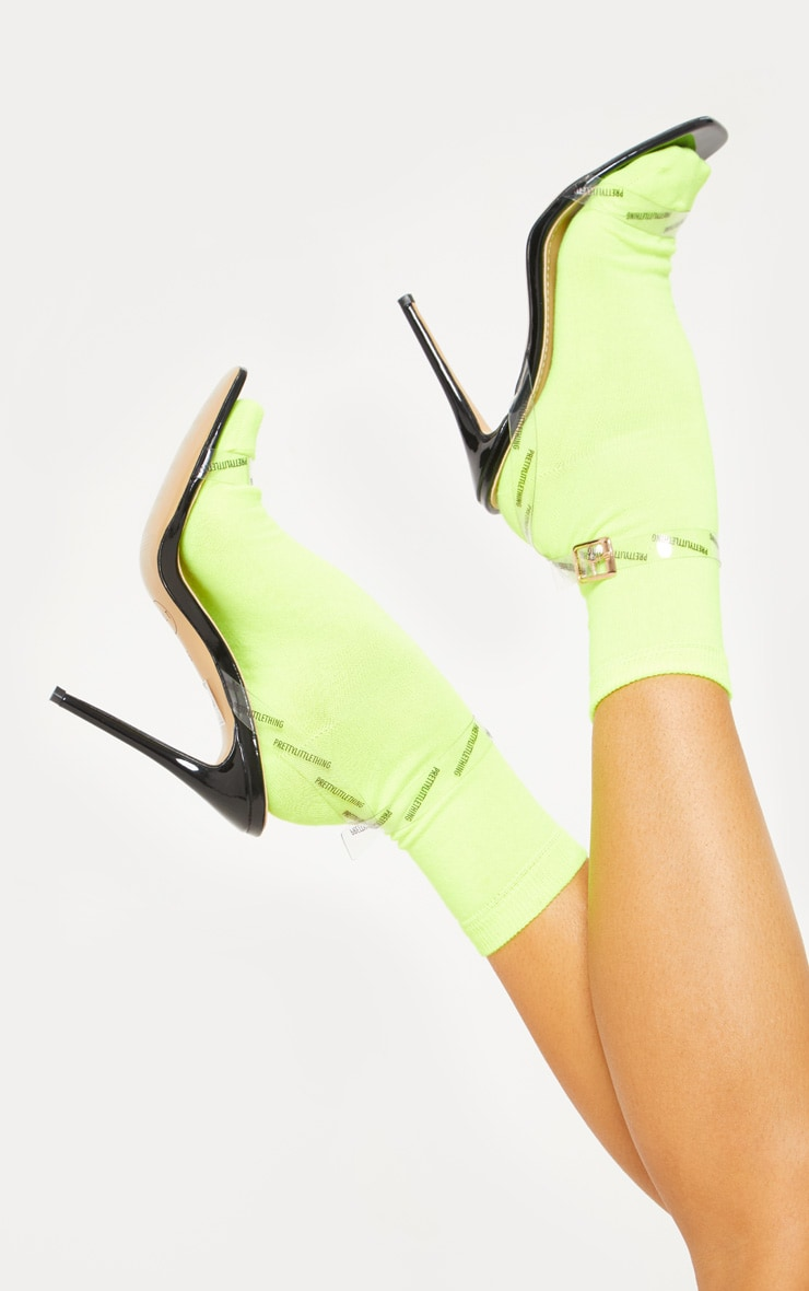 Neon Yellow Ankle Socks 1