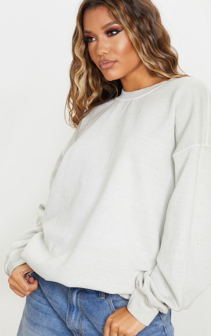 Sage Green Ultimate Oversized Sweatshirt 4