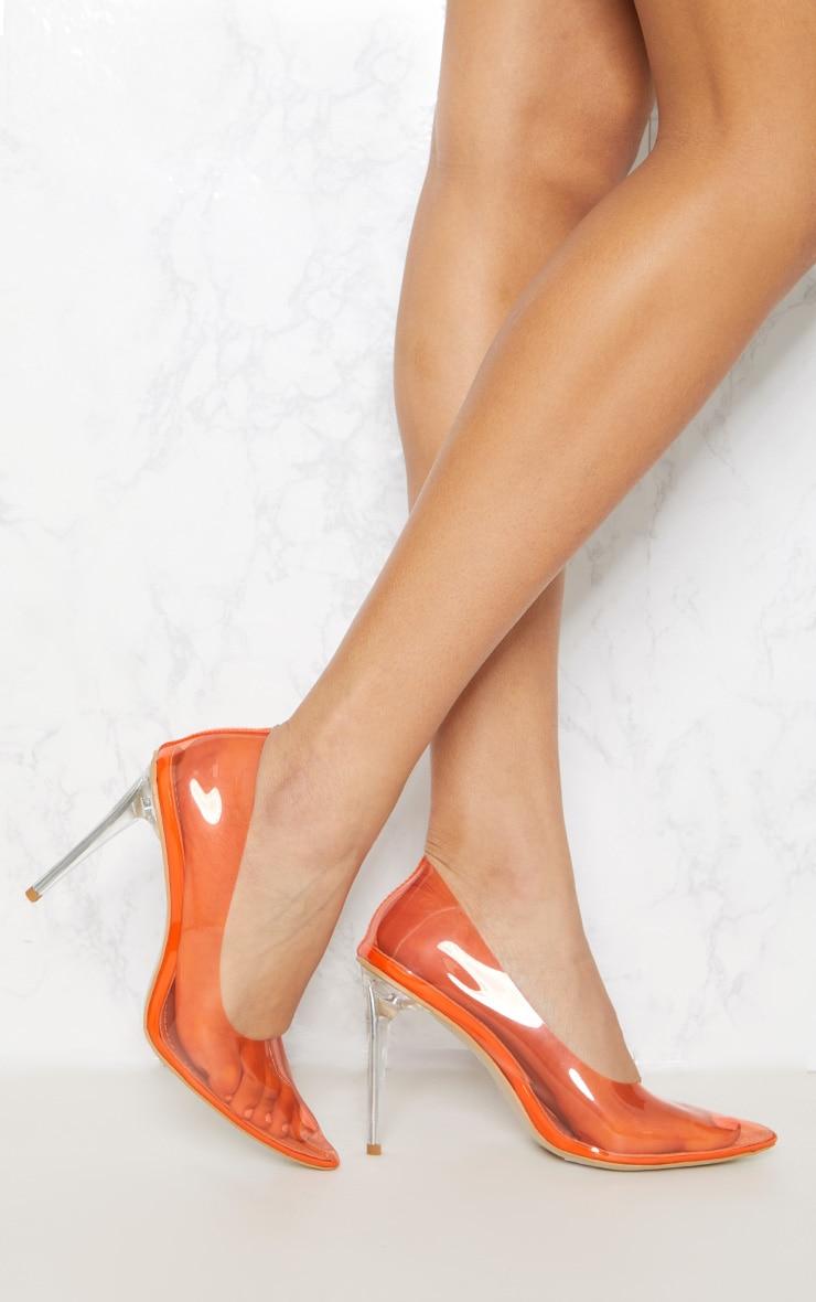 Orange Clear Court Shoe 1