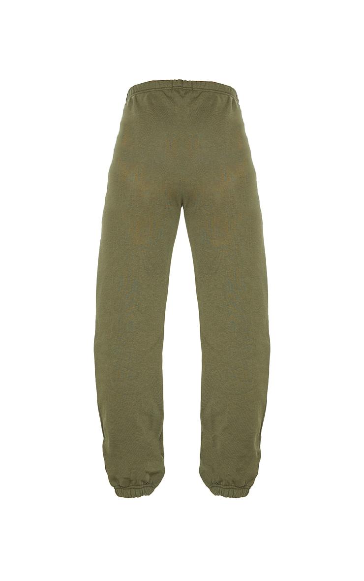 Khaki Basic Cuff Hem Jogger 5