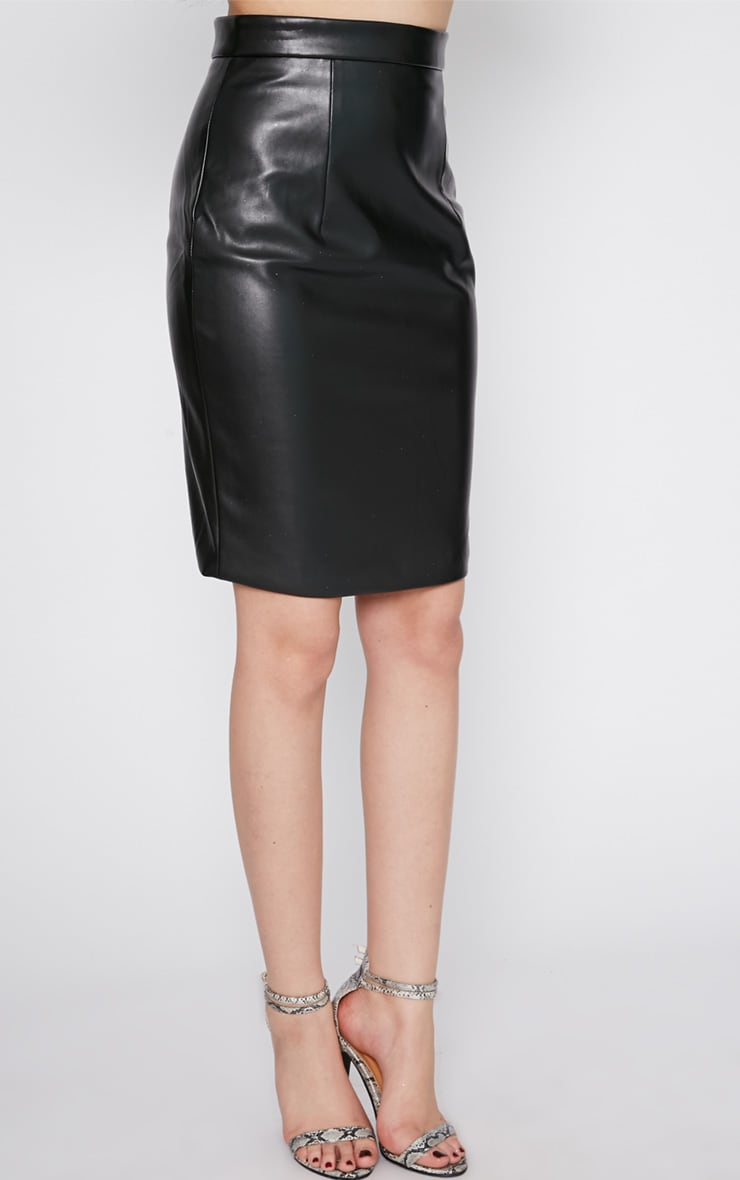 Analise Black Leather Skirt 3