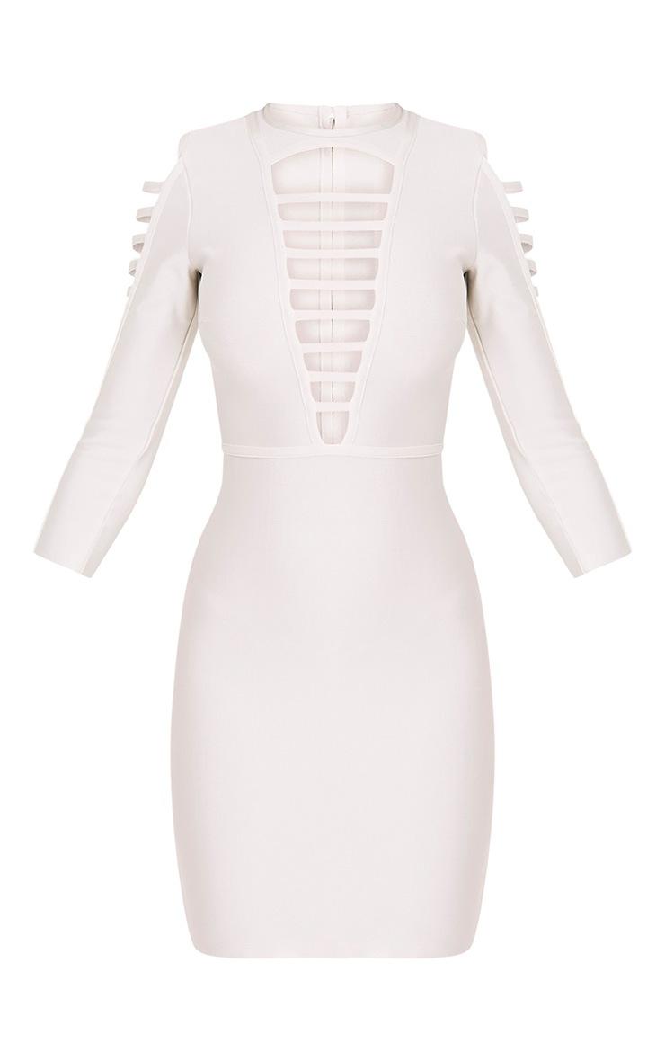 Laurena White Extreme Strap Bandage Dress 3