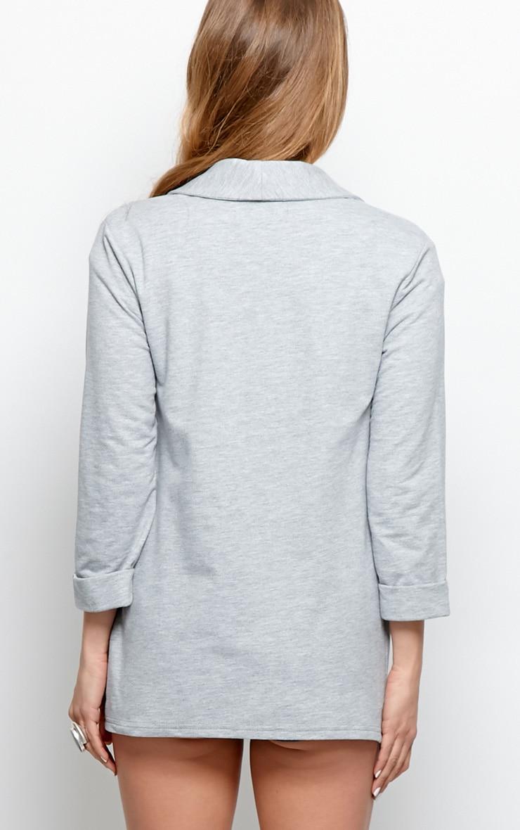 Lyla Grey Long Line Blazer  2
