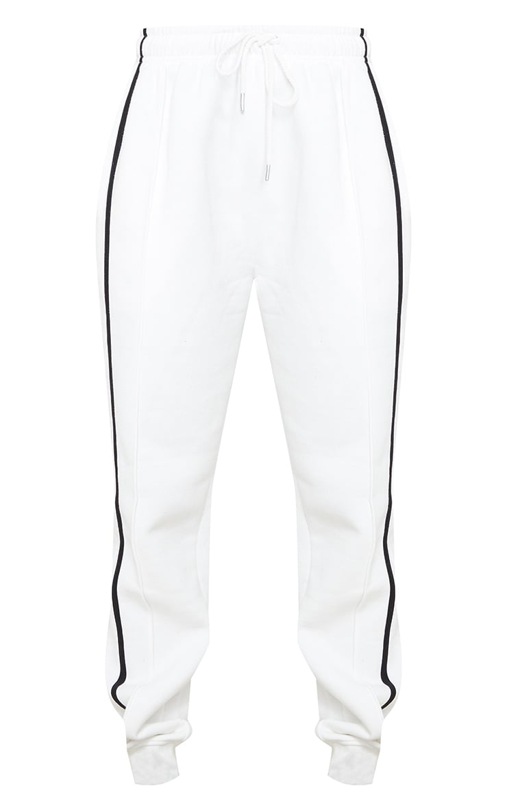 Cream Double Side Stripe Joggers 5