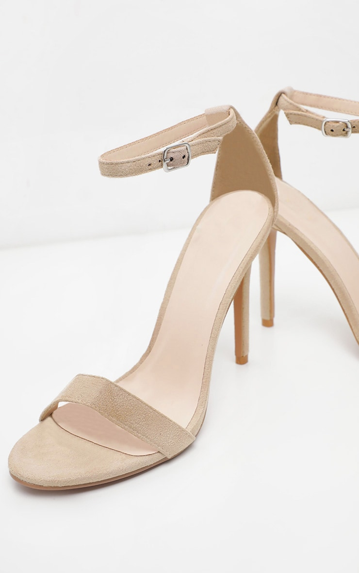 Nude Wide Fit Single Strap Heeled Sandal 4