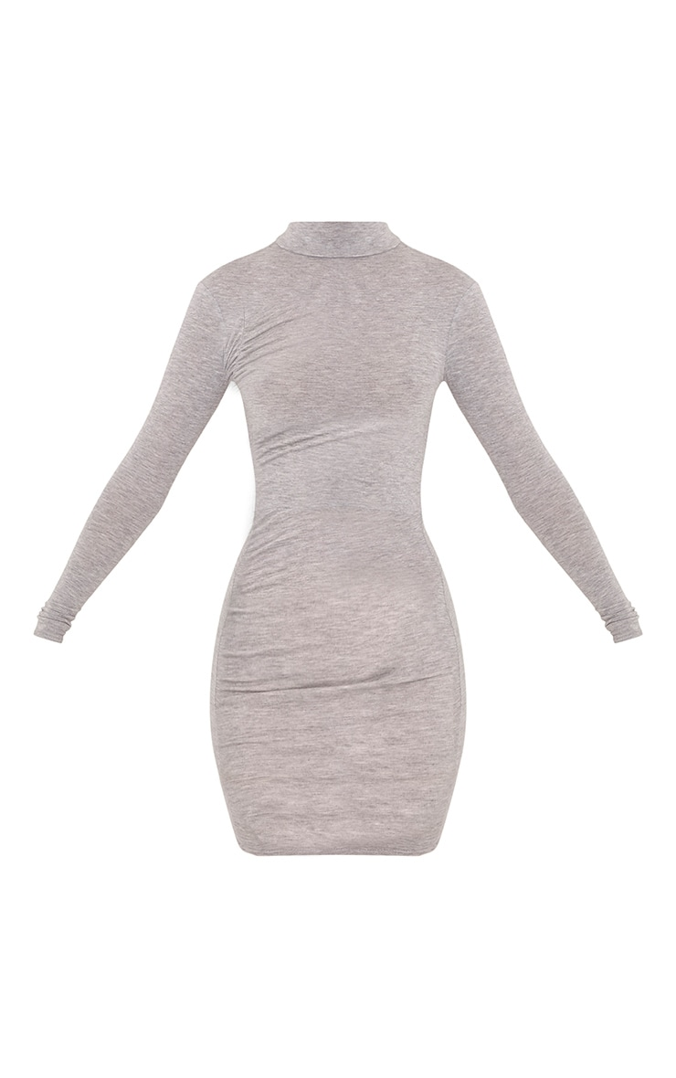 Moana Grey Marl Ruched Detail Bodycon Dress 3