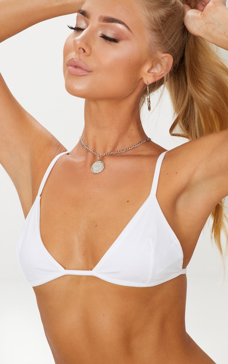 White Mix & Match Itsy Bitsy Bikini Top 5
