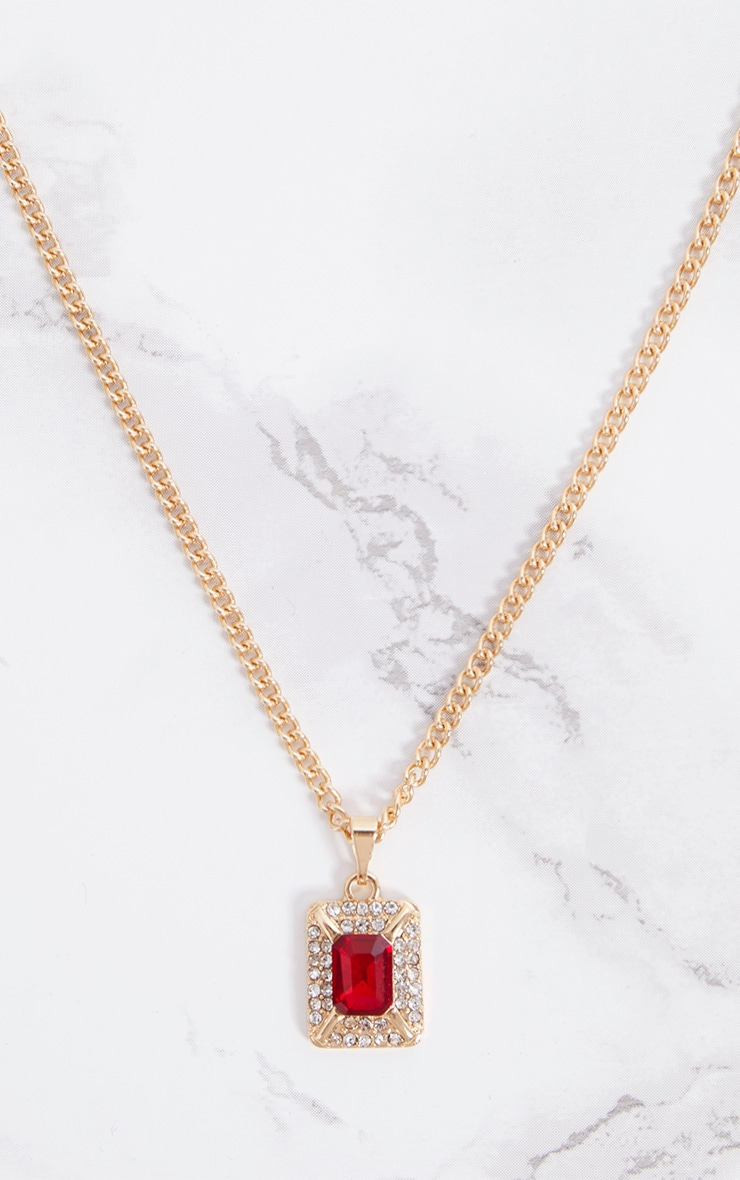 Red Ruby Gem Pendant Necklace 2