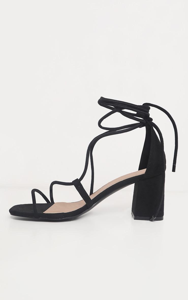 Black Block Heel Sandal 4