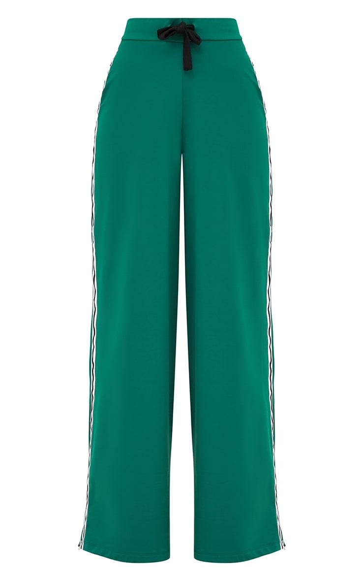 Green Wide Leg Sport Trouser 4