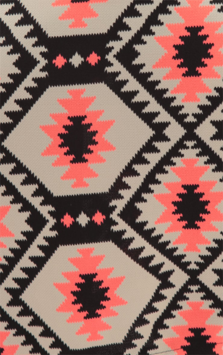 Leila Pink Aztec Print Midi Skirt 3
