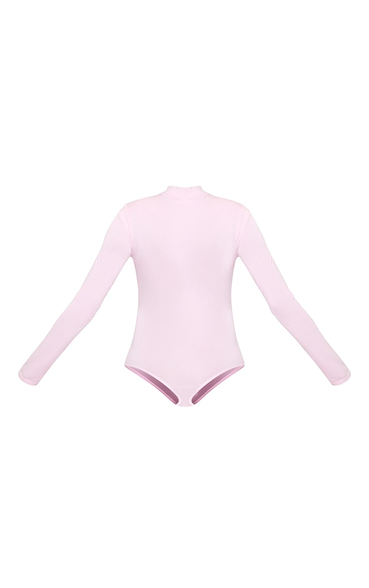 Girl You Got This High Neck Long Sleeve Bodysuit Baby Pink 5