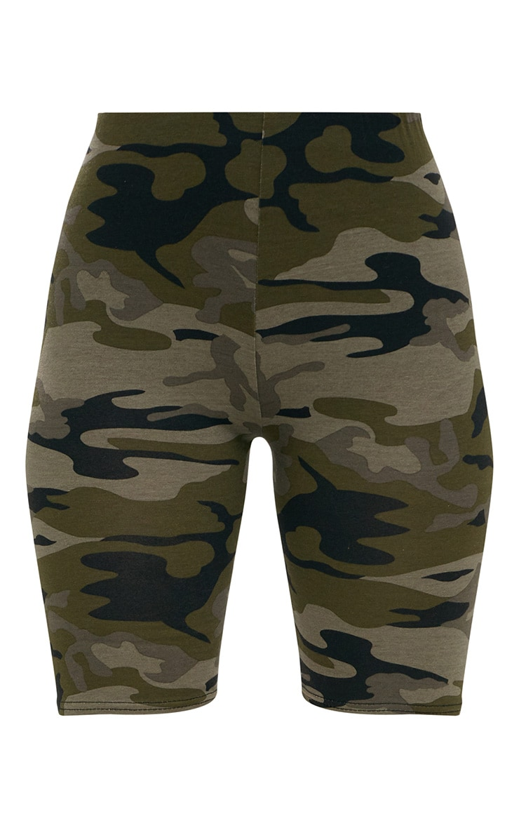 Khaki Camo Print Cycle Shorts 3