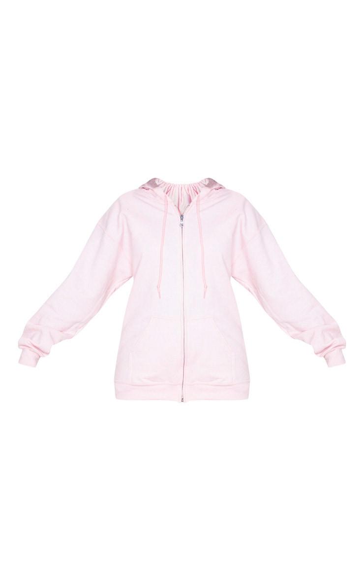 Baby Pink Fleece Zip Up Hoodie 3