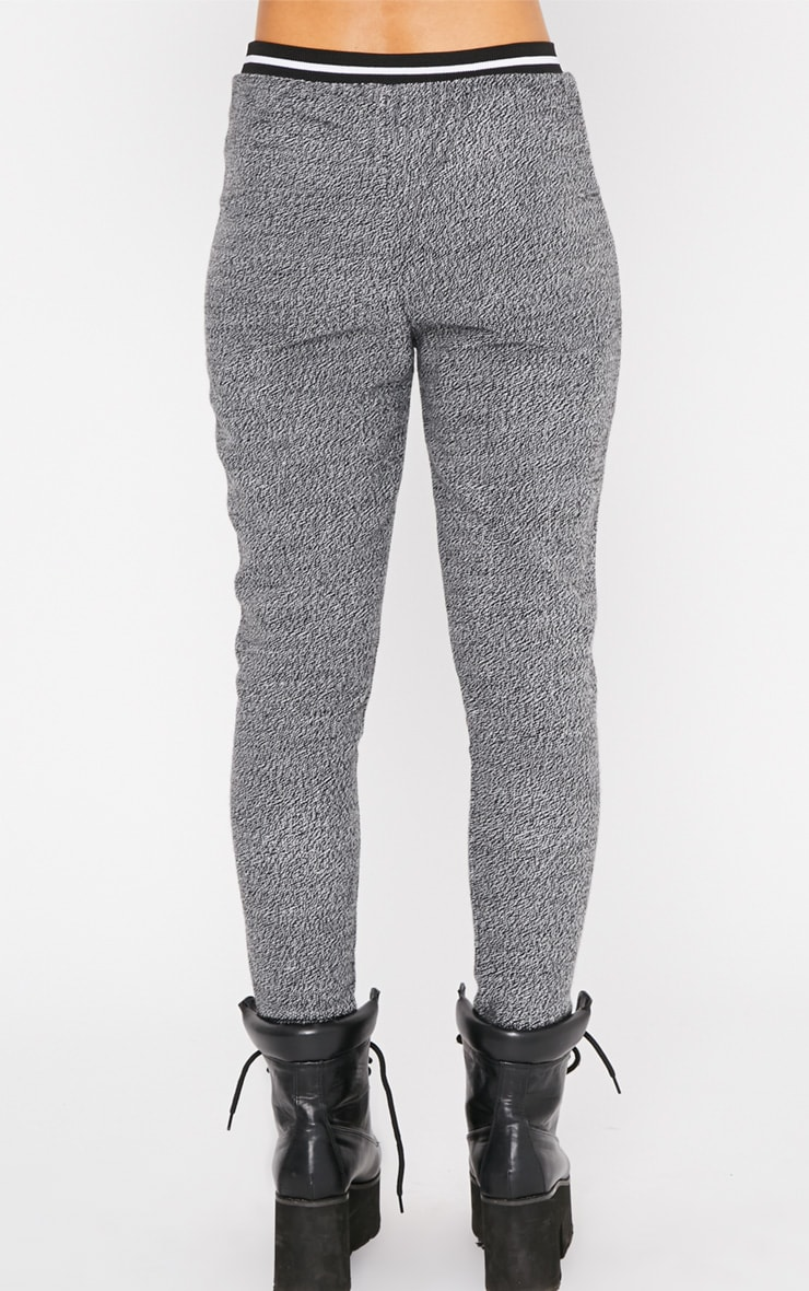 Hollie Grey Sporty Knitted Joggers 2