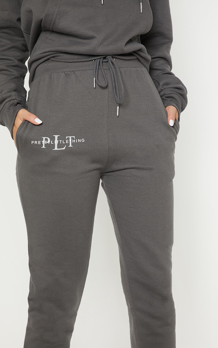 PRETTYLITTLETHING Charcoal Printed Joggers 5