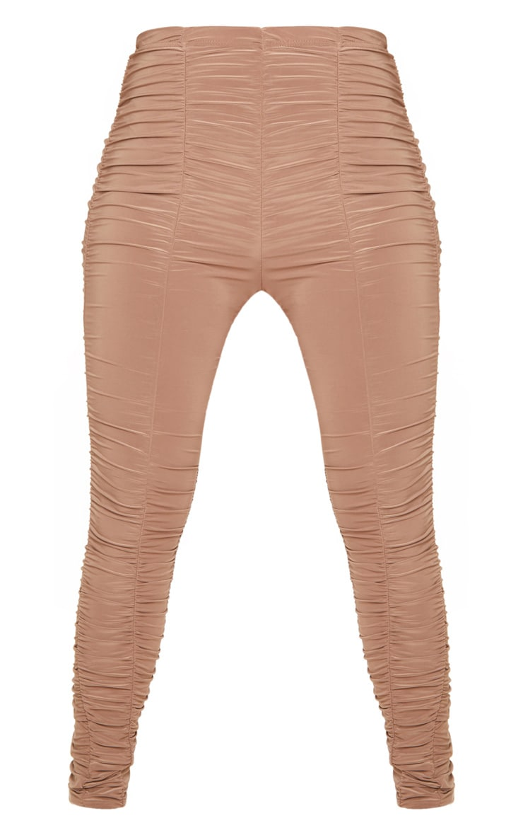 Camel Slinky Ruched Leggings 3