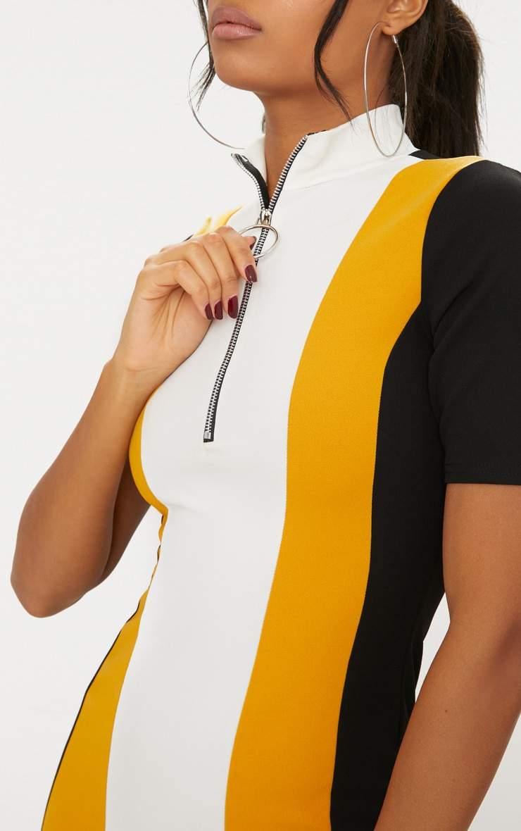 Yellow Motocross Ring Pull Dress 5
