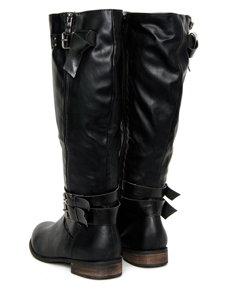 Jasmin Black Knee Length Boots 2