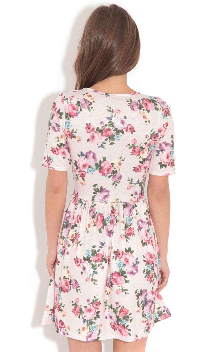 Christie Pink Floral Skater Dress 2