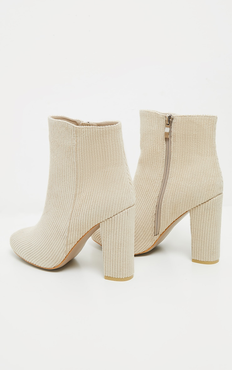 Cream Cord Behati Ankle Boot 5