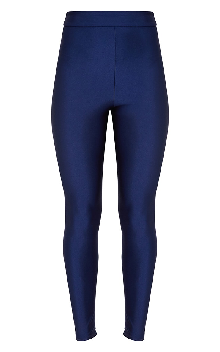 Navy Disco High Waisted Leggings 3