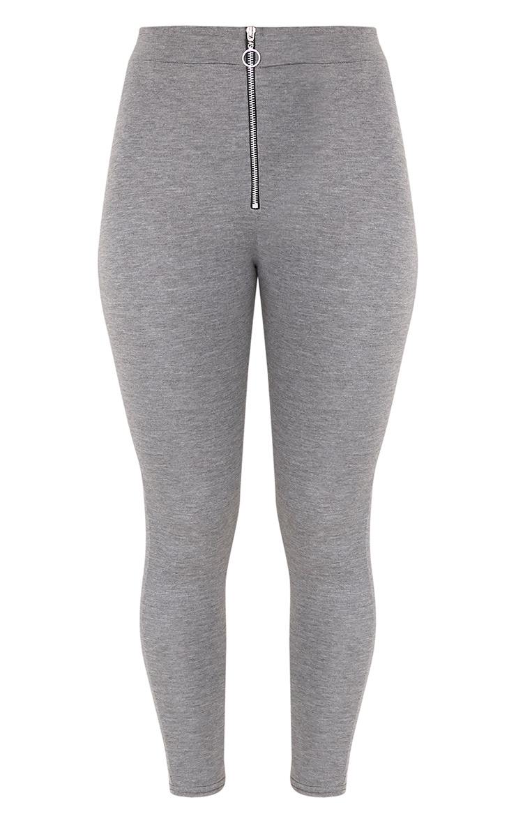 Grey Ring Zip Leggings 2