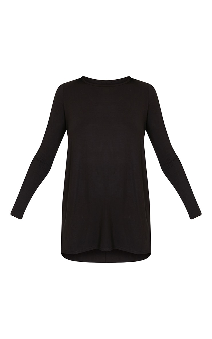 Black Long Sleeve Side Split Top 3