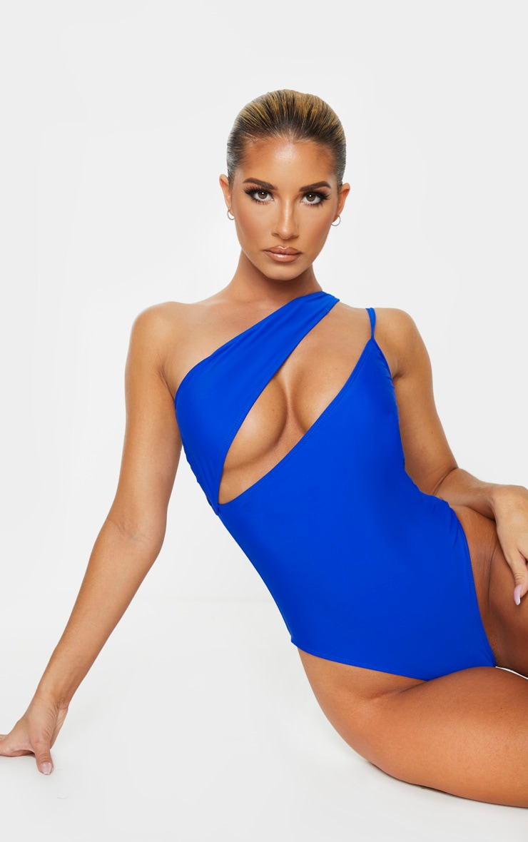 Cobalt Asymmetric Double Strap Swimsuit 1