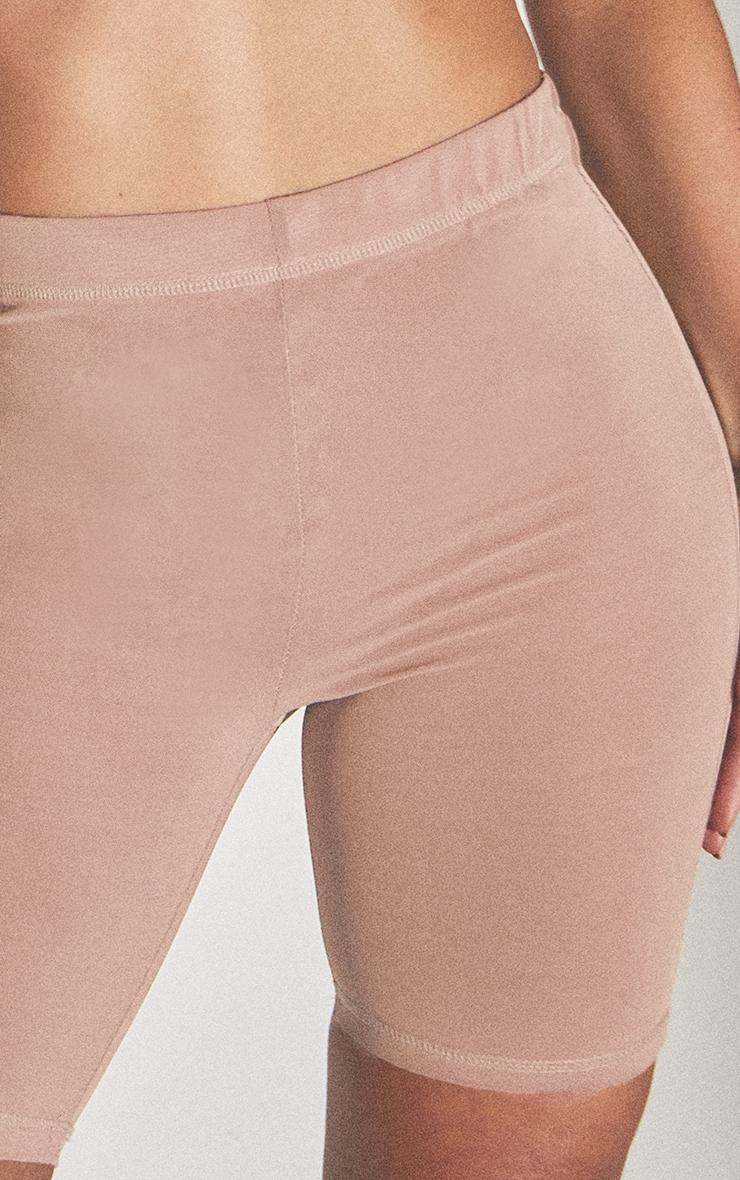PLT Seconde Peau - Short de lingerie en mesh argile à taille haute 5