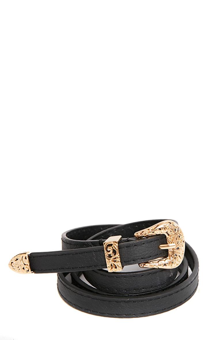 Orla Black Skinny Belt 1