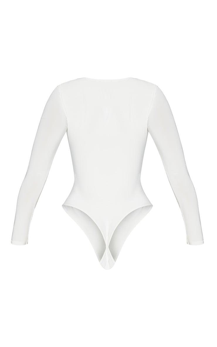 Seconde Peau - Body-string blanc à col carré 4