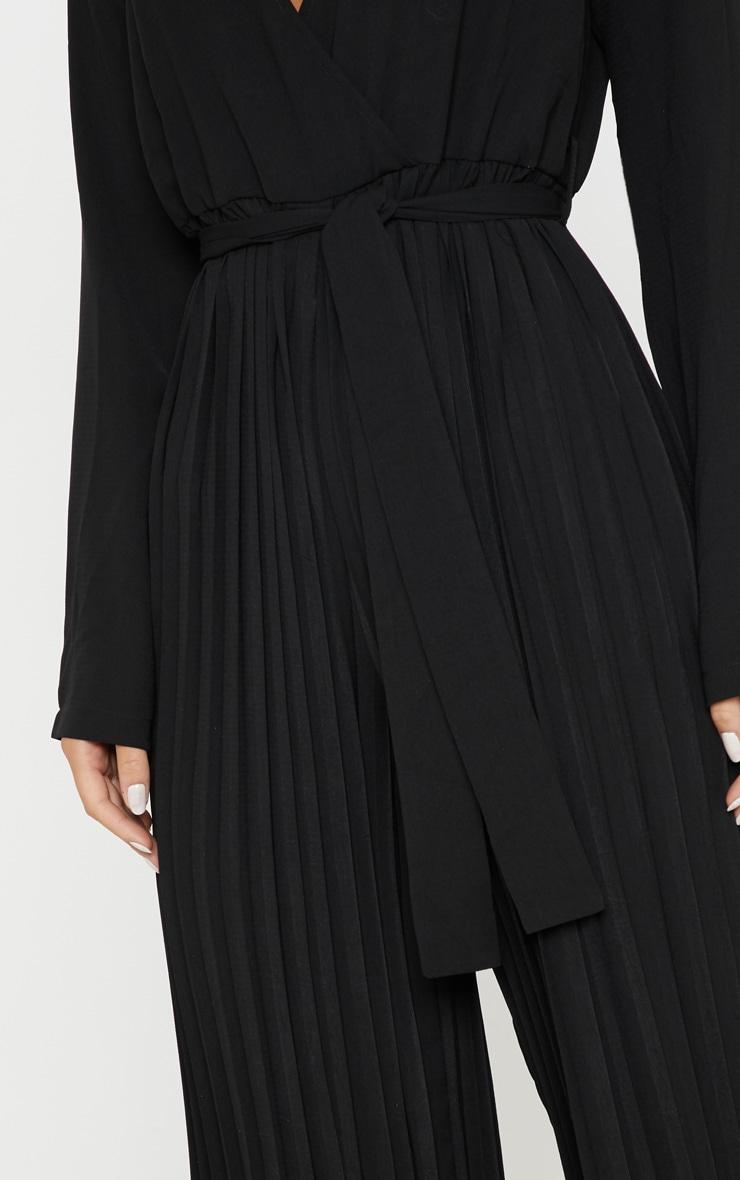 Black Pleated Wide Leg Jumpsuit 5