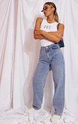 Vintage Wash Extreme Bum Split Baggy Boyfriend Jeans 5