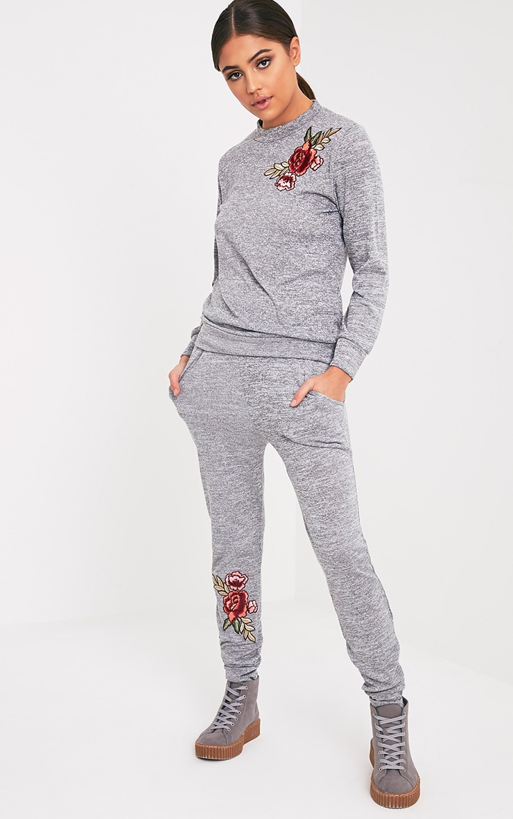 Cally Grey Applique Tracksuit Sweater 5