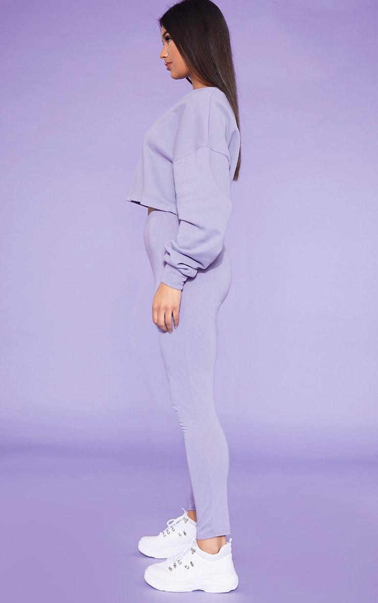 RECYCLED Violet Crop Sweater 2