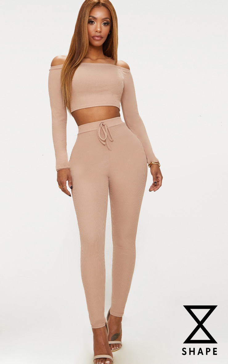 Shape Nude Ribbed High Waist Leggings 1