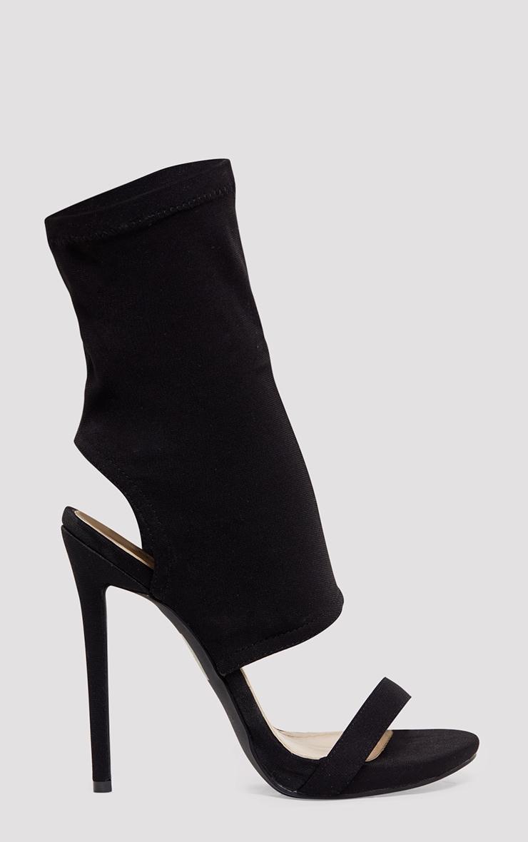 Etta Black Cut Out Sock Heels 2