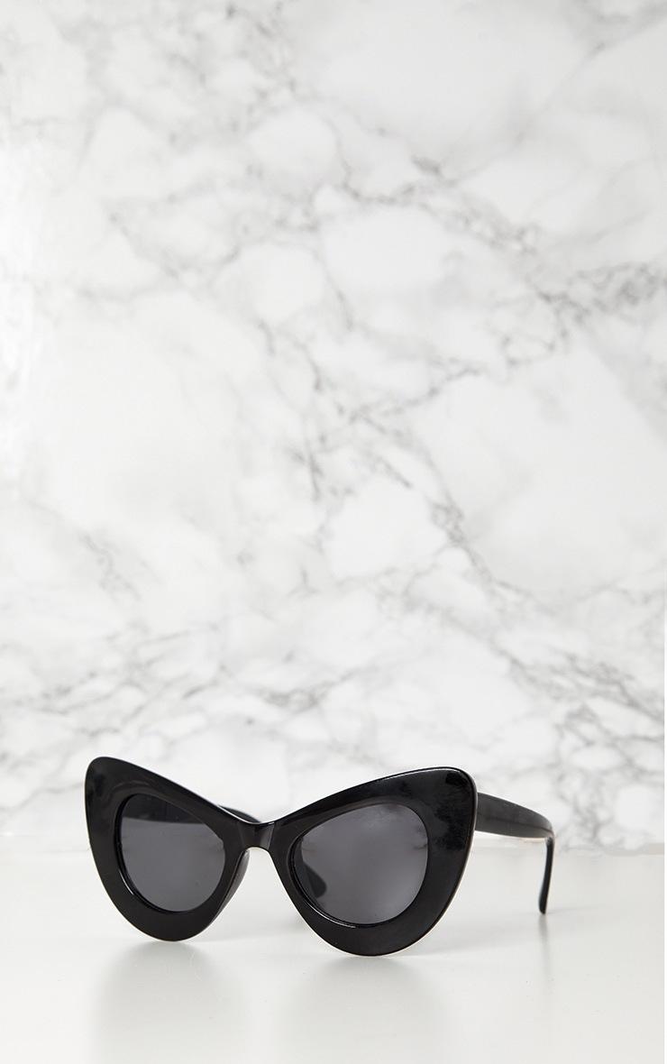 Black Mega Cat Eye Sunglasses 2