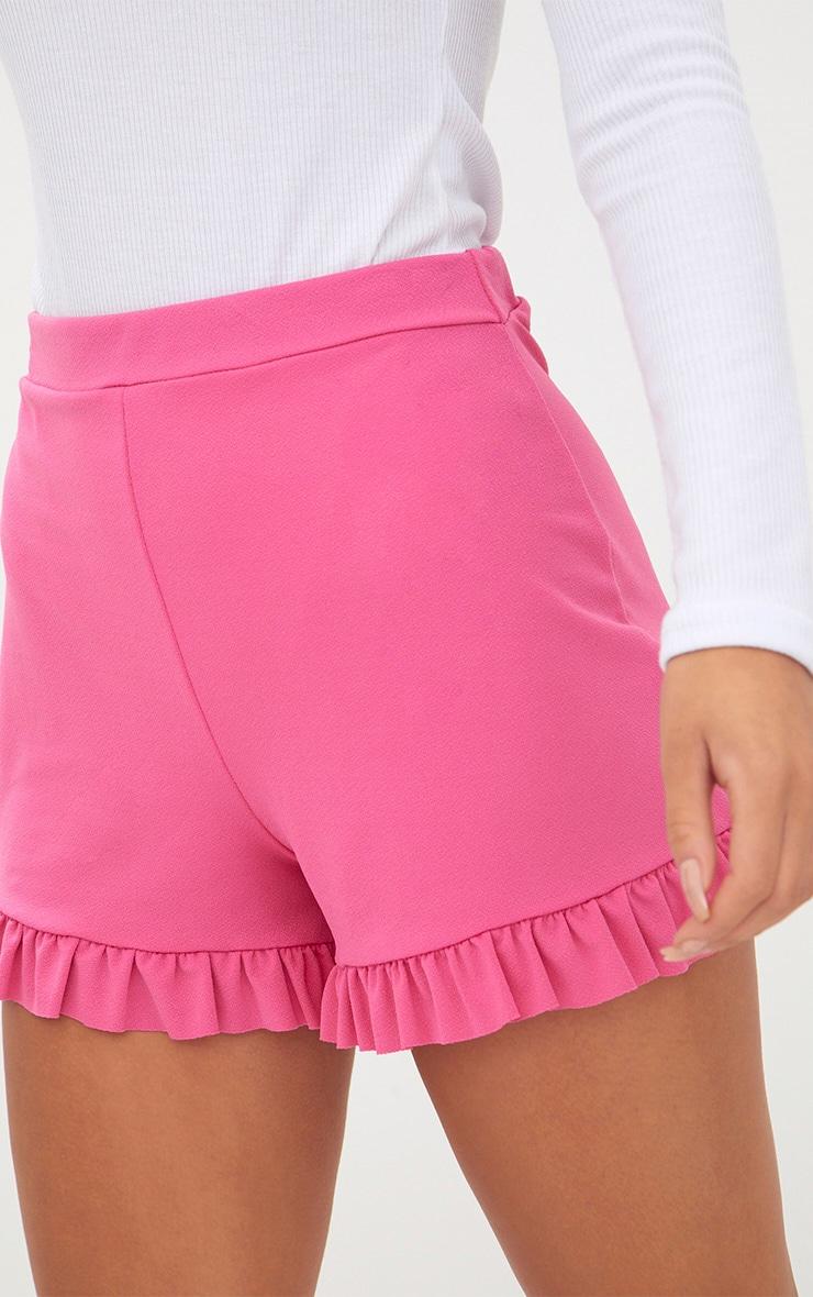 Fuchsia Frill Hem Shorts 6