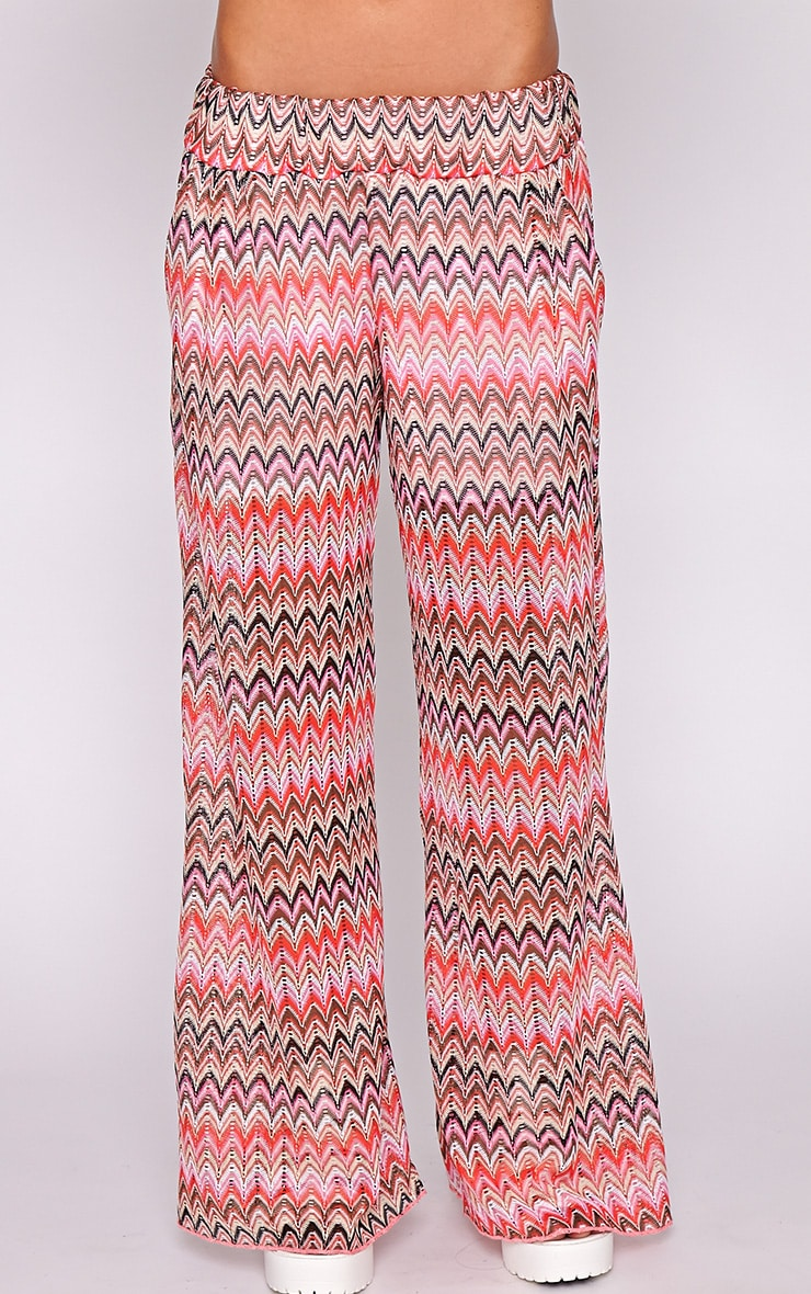 Machiko Red Zig Zag Trouser  4