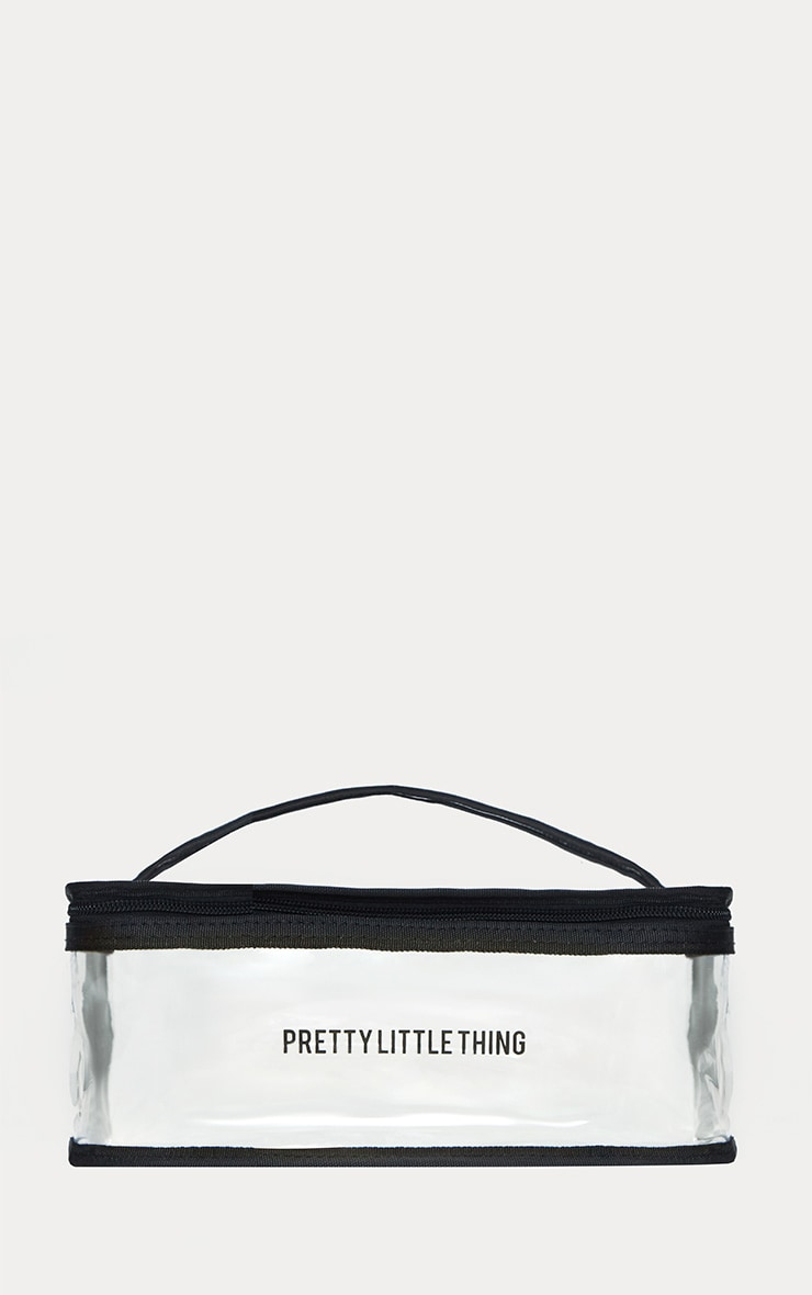 PRETTYLITTLETHING Large Transparent Cosmetic Bag 1