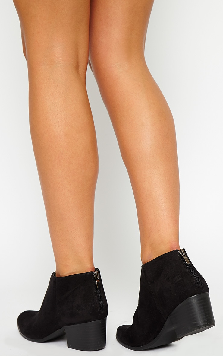 Rissa Black Pointed Suede Ankle Boots 3