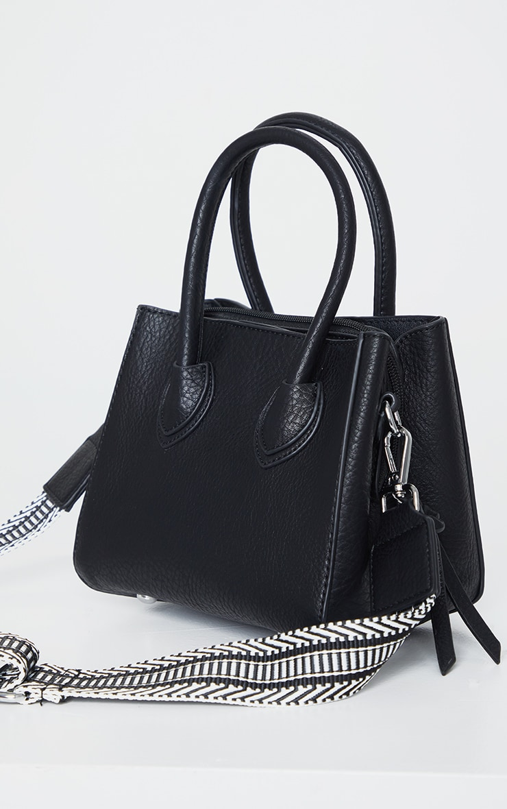 Black PU Mini Tote Bag 3