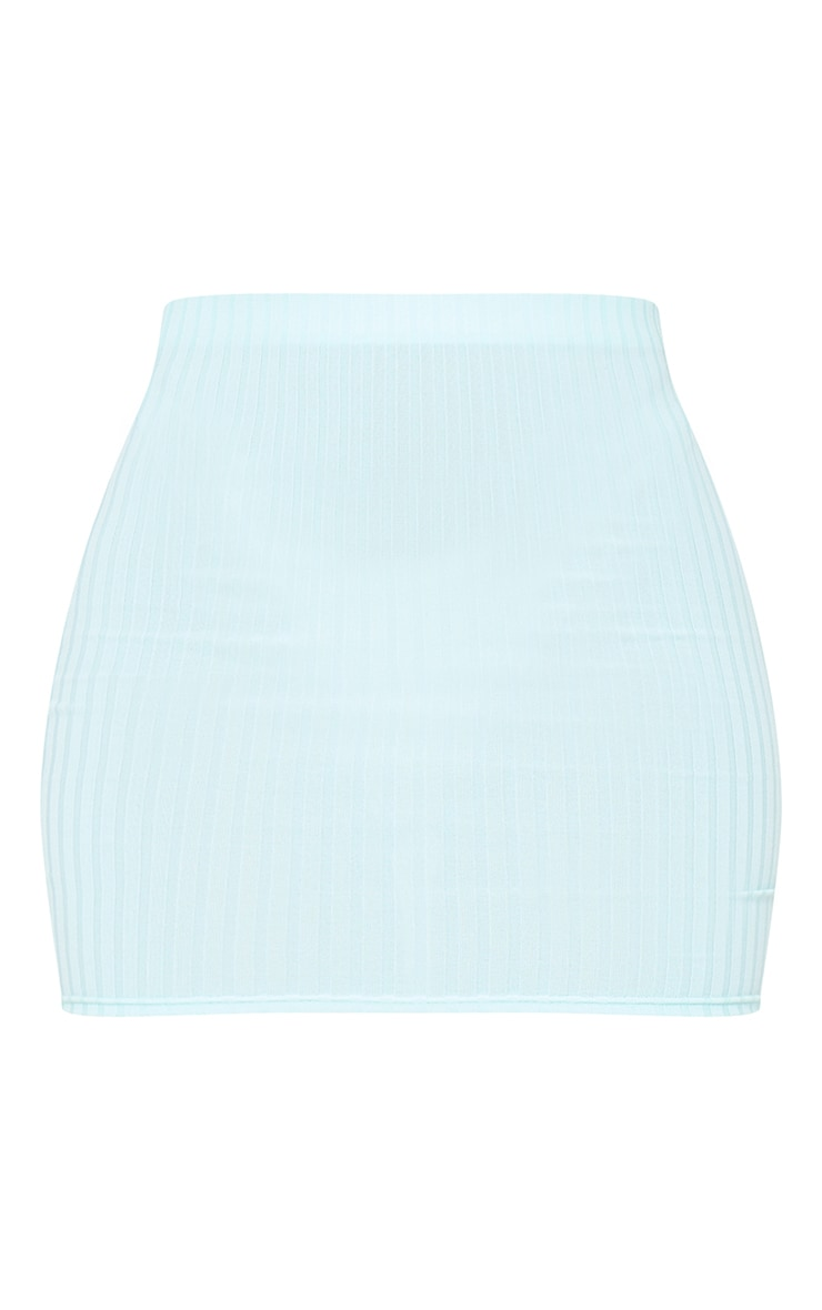Mint Rib Mini Skirt 6