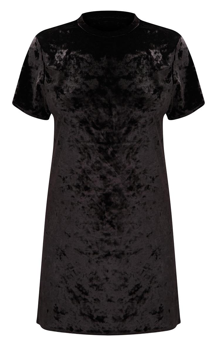 Black Velvet T Shirt Dress 3