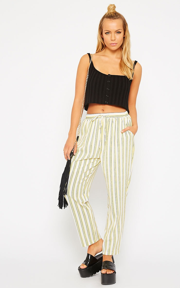 Susy Black Knitted Cropped Vest Top 3